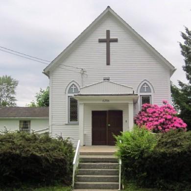 Mount Lehman Church in Spring